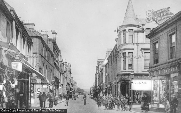 Photo of Alloa, The Cross And Mill Street c.1900