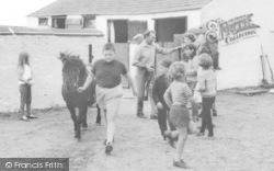 Allonby, Children At The Stables c.1965