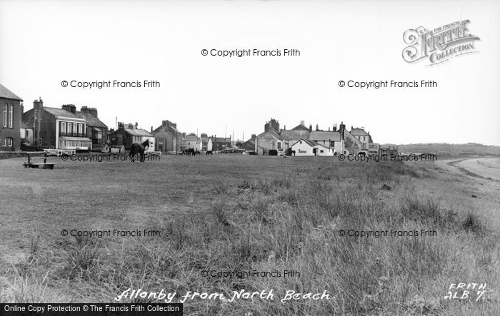 Photo of Allonby, From North Beach c.1955