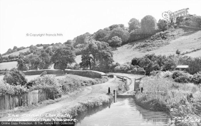 Photo of Allt Yr Yn, The Canal Tow Path c.1955