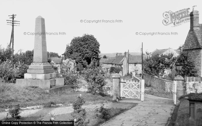 Photo of Almondsbury, War Memorial And Village c.1955