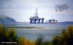 Cromarty Firth, Oil Platform 'ocean Bounty' c.1990, Alness