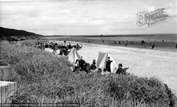 Photo of Alnmouth, The Beach c.1955