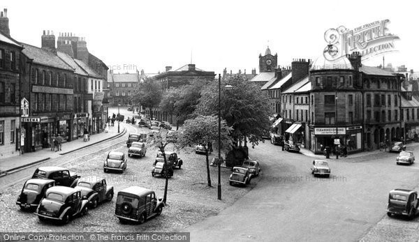 Photo of Alnwick, Bondgate and Market Place c1955, ref. A223017