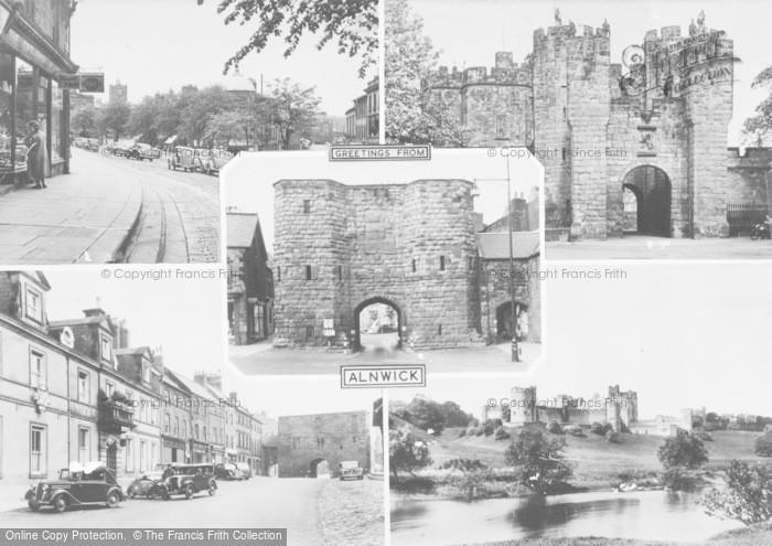 Photo of Alnwick, Composite c.1955