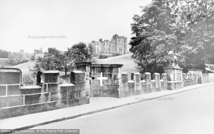 Photo of Alnwick, Lion Bridge And Castle c.1955