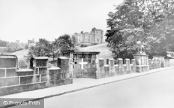Alnwick, Lion Bridge And Castle c.1955
