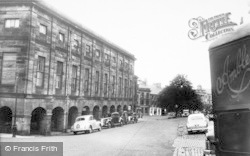 Alnwick, Market Hall And Market Street c.1965