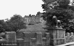 Alnwick, The Castle And Lion Bridge c.1950