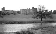 Alnwick, The Castle And River Aln c.1955