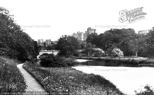 Photo of Alnwick, The Castle From Dairy Grounds c.1881