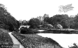Alnwick, The Castle From Dairy Grounds c.1881