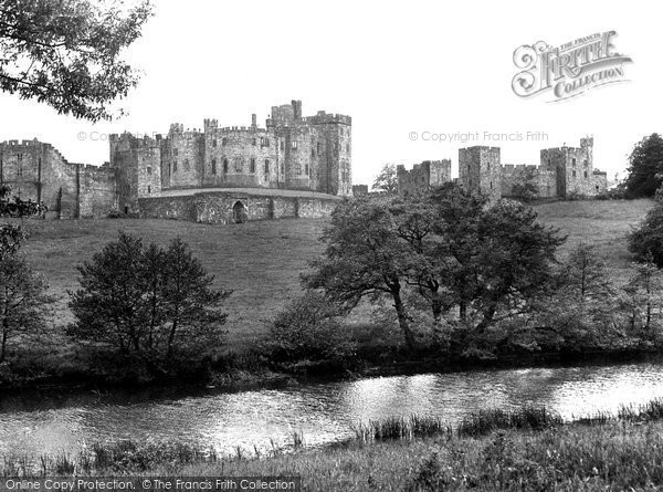 Photo of Alnwick, The Castle From The Pastures c.1955