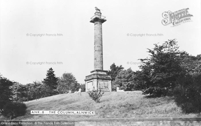 Photo of Alnwick, The Column c.1950