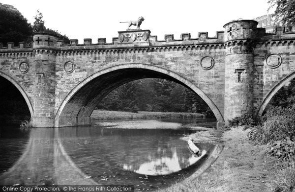 Photo of Alnwick, the Lion Bridge c1955, ref. A223002