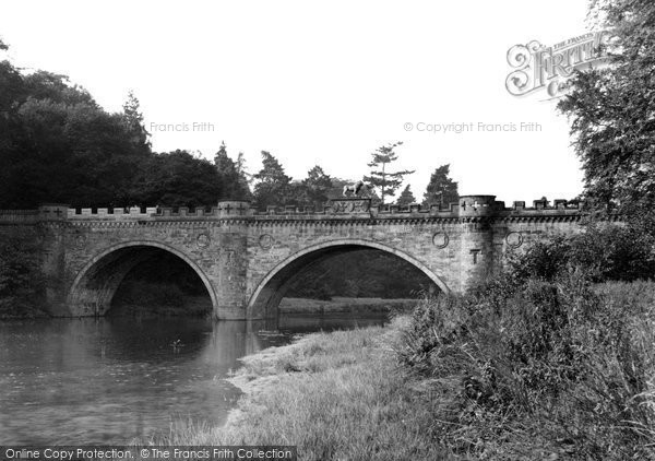 Photo of Alnwick, The Lion Bridge c.1955