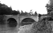Alnwick, The Lion Bridge c.1955