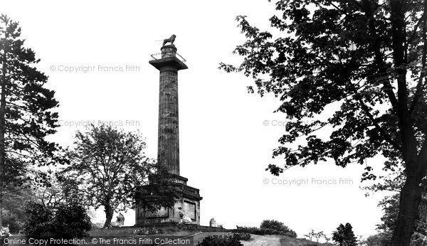 Photo of Alnwick, The Lion Monument c.1955