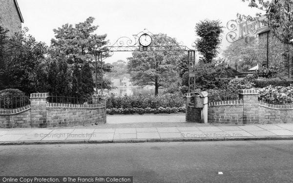 Alsager, Coronation Gates c.1965