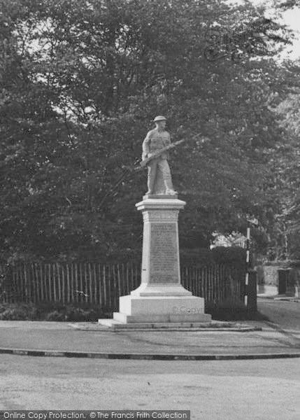Photo of Alsager, Memorial Corner c.1955