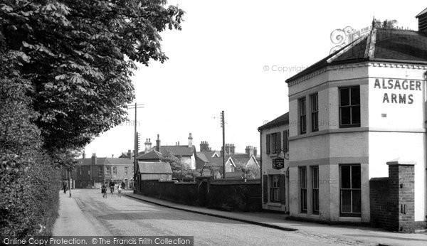 Photo of Alsager, Sandbach Road c.1955