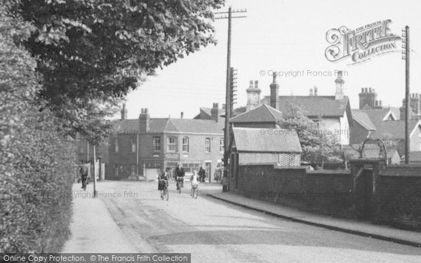 Photo of Alsager, Sandbach Road, Cyclists c.1955