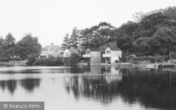 Alsager, The Mere, Boat Houses c.1965