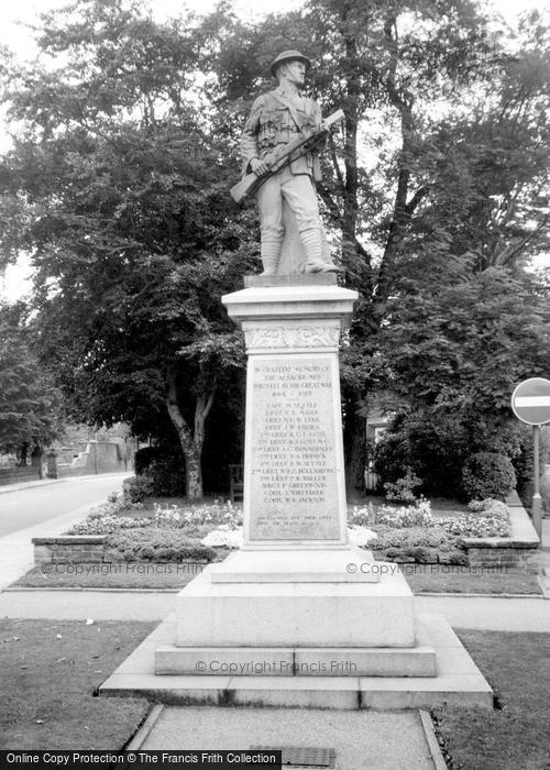 Photo of Alsager, War Memorial c.1965