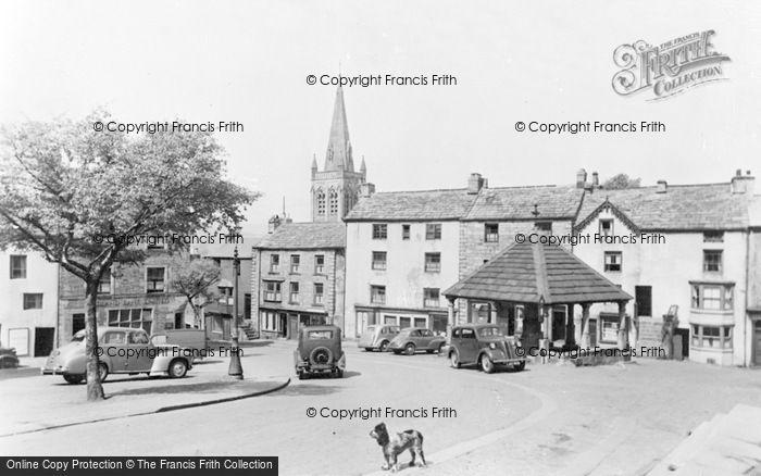 Photo of Alston, Market Square c.1950