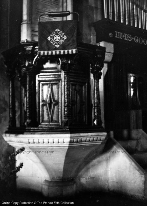 Photo of Alton, Church Of St Lawrence Pulpit c.1950