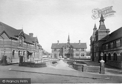 Alton, Curtis Museum, Cottage Hospital And Town Hall c.1880