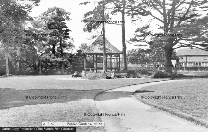Photo of Alton, Public Gardens c.1955