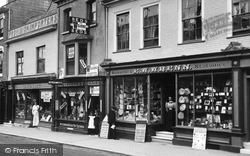Shops In The High Street 1898, Alton