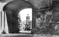 Gateway To Main Gardens And Choragic Temple c.1955, Alton Towers