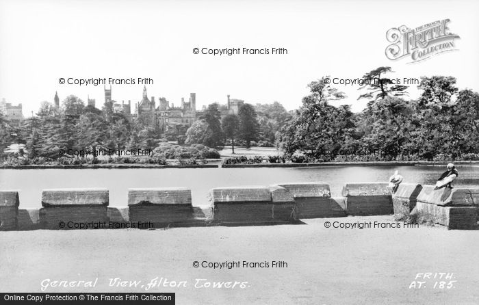 Photo of Alton Towers, General View c.1955