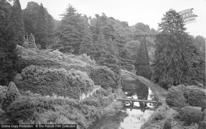Photo of Alton Towers, The Bridge And Canal c.1955