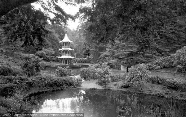 Alton Towers, The Pagoda Fountain c.1955