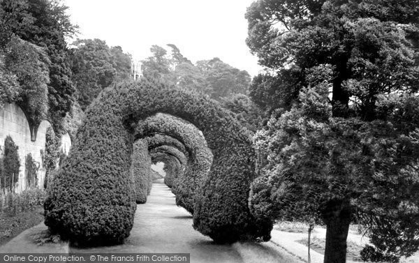 Photo of Alton Towers, The Yew Arches c.1955