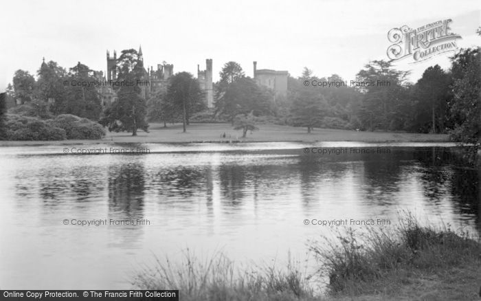 Photo of Alton Towers, View Across The Boating Lake c.1955