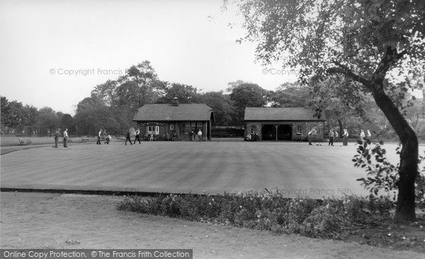 Photo of Altrincham, Bowling Green, Stamford Park c.1955