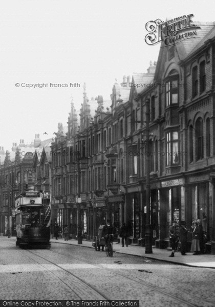 Photo of Altrincham, Tram In Stamford New Road 1913