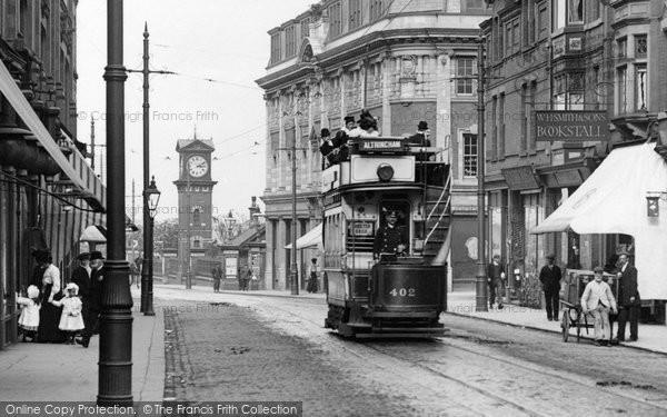 Photo of Altrincham, Tram, Stamford New Road 1907