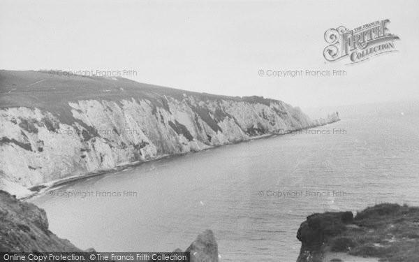 Photo of Alum Bay, And The Needles c.1955