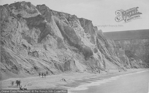 Photo of Alum Bay, Coloured Cliffs 1923