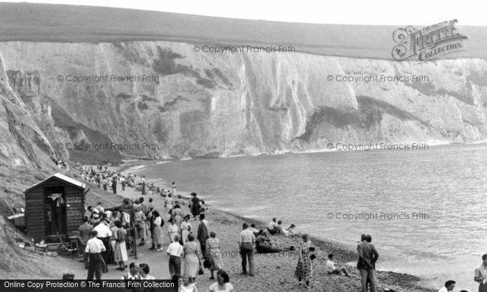 Alum Bay, The Beach c.1955