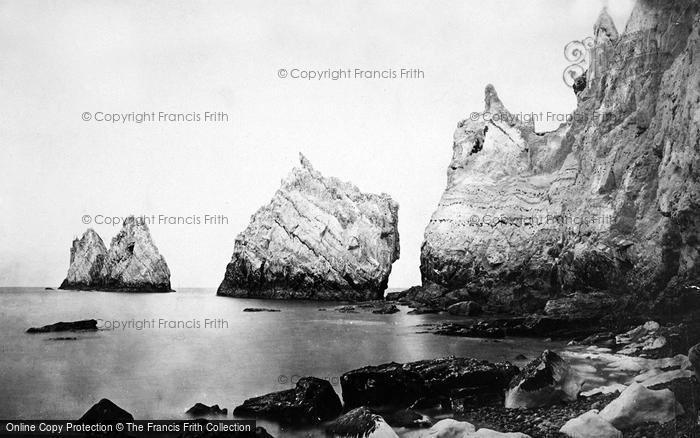 Photo of Alum Bay, The Needles c.1871