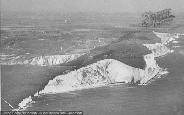 Photo of Alum Bay, The Needles From The Air c.1940