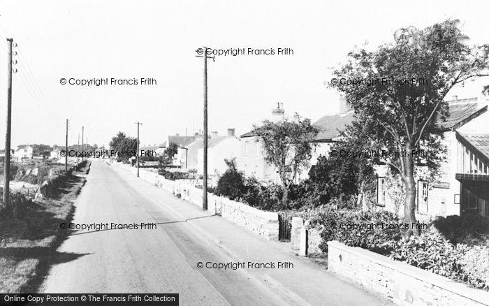 Photo of Alveston, The Down Road c.1960