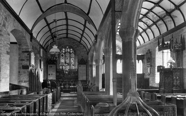 Photo of Alwington, Church interior 1907