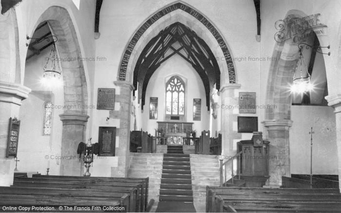 Photo of Alwinton, Church Interior c.1960